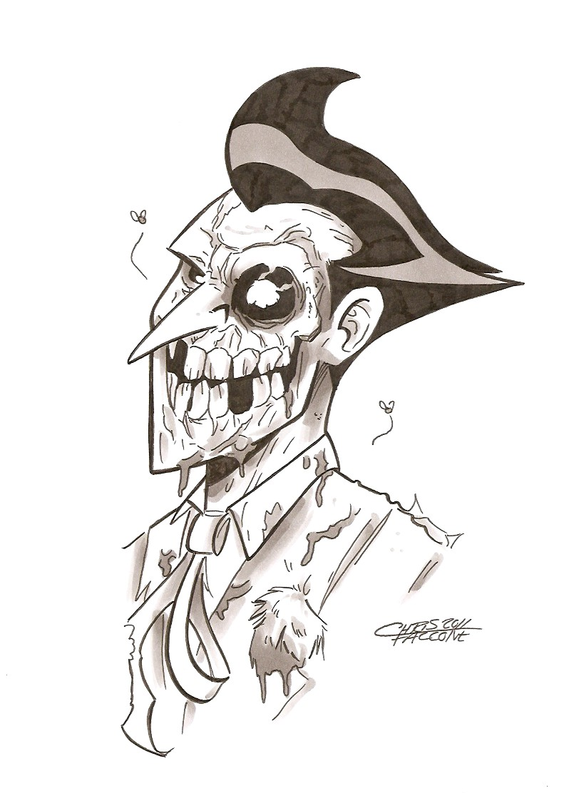 Zombie Joker by ChrisFaccone