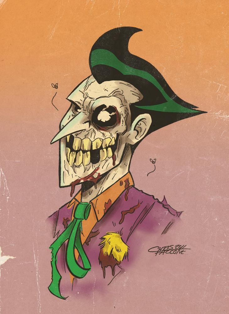 Zombie Joker by ChrisFaccone