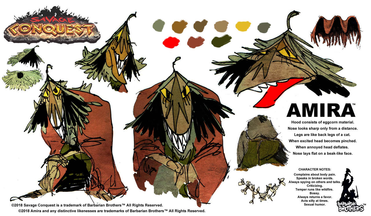 Savage Conquest model sheet by ChrisFaccone