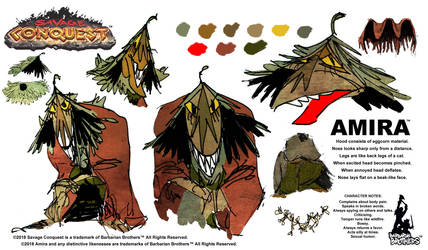 Savage Conquest model sheet