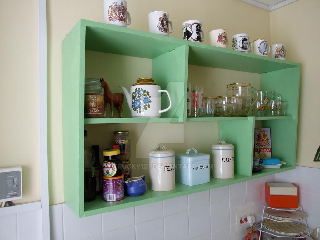 Simple 1950u0027s Style Kitchen Shelves By Trucky123 ...