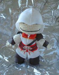 Ezio Sackboy by MarinaYeah