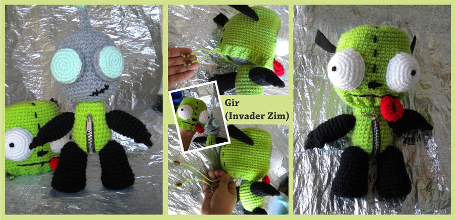 Invader Zim Gir Doll By Marinayeah On Deviantart