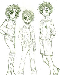 Children of the Big Three by blackwingsxv