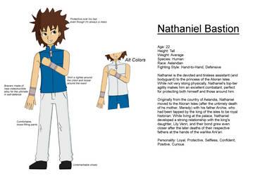 Nathaniel Bastion Character Sheet by aelandia