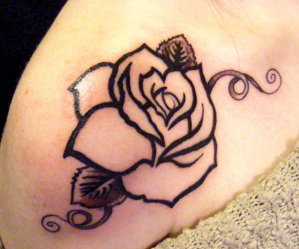 shoulder tattoos My Wife 39s Shoulder Rose