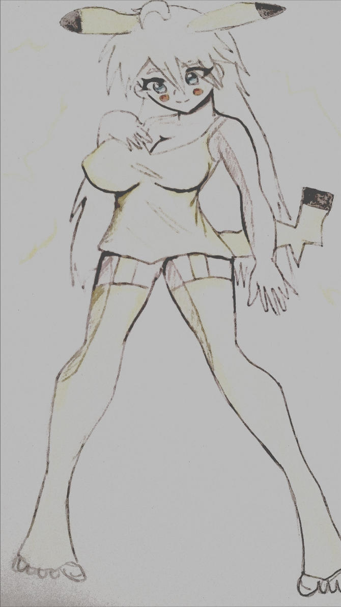 FEMALE PIKACHU PICSART VERSION by tifa005111