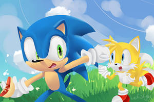 Sonic and Tails by leifii
