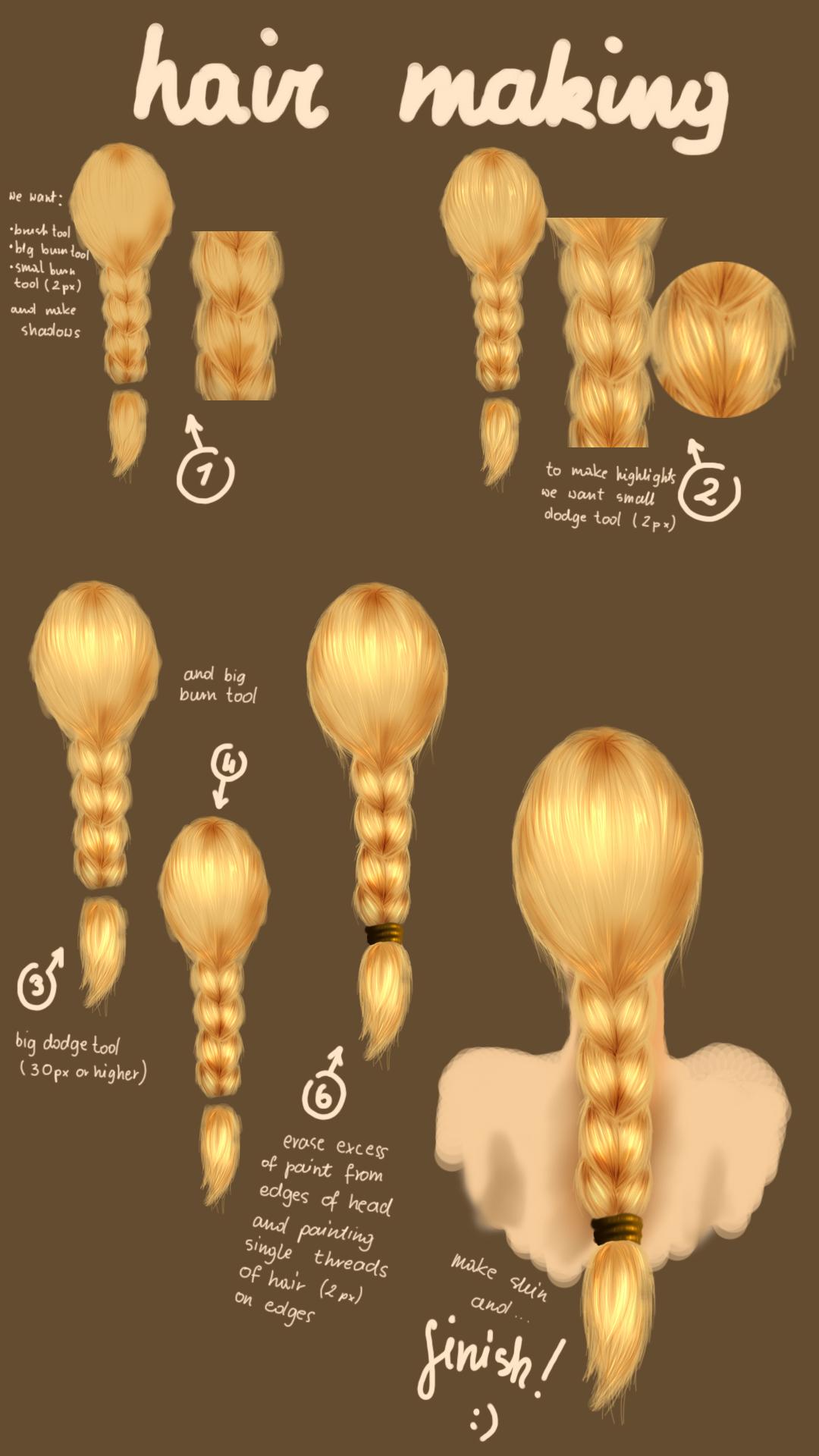 hair tutorial 1 by MadHatterArien