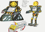 Cosmic Tales: Happy Time Co. Death Robots by KingUglySquirrel