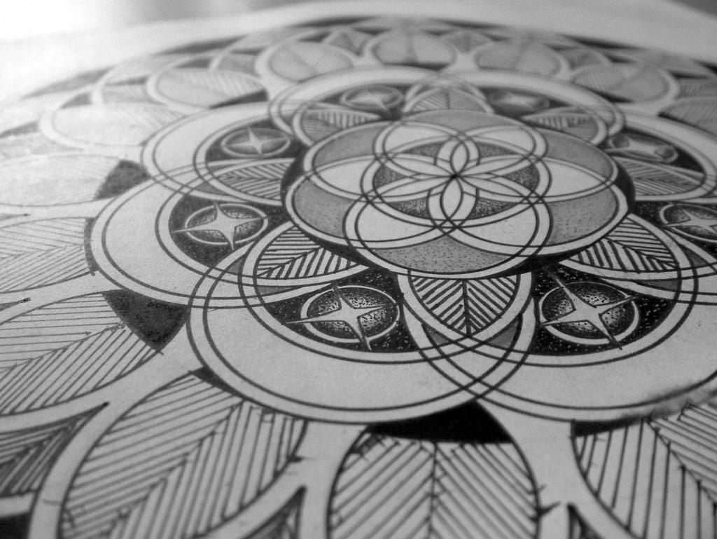 Mandala ink by Corey-Hebert