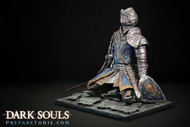 Dark Souls Knight sculpture by futantshadow