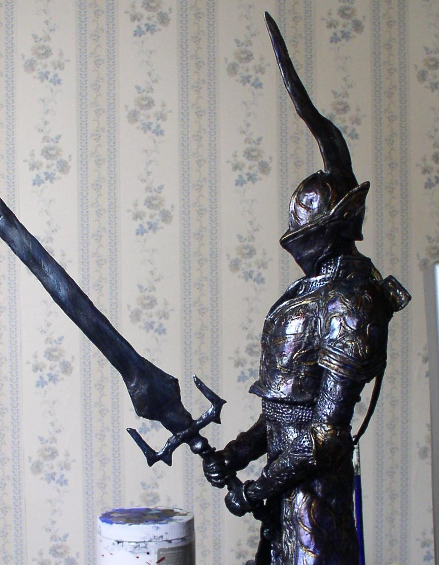Demon's Souls Penetrator sculpture painted by futantshadow
