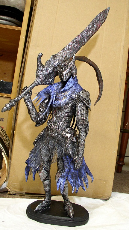 Dark Souls Artorias the Abysswalker Statue by futantshadow