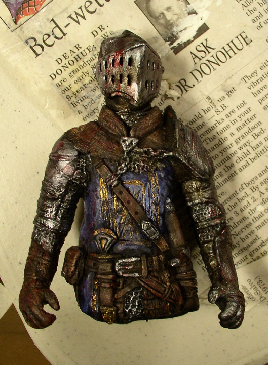Dark Souls Elite Knight mini with arms by futantshadow