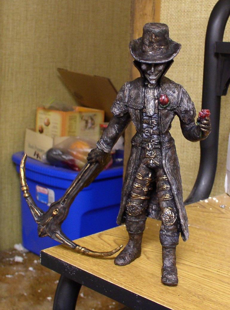 Dark Souls Marvelous Chester statue by futantshadow