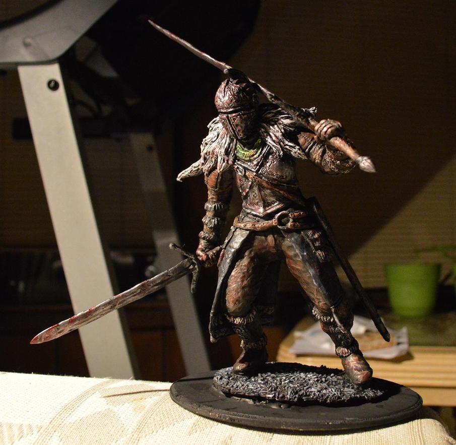 Dark Souls 2 Faraam Knight statue by futantshadow