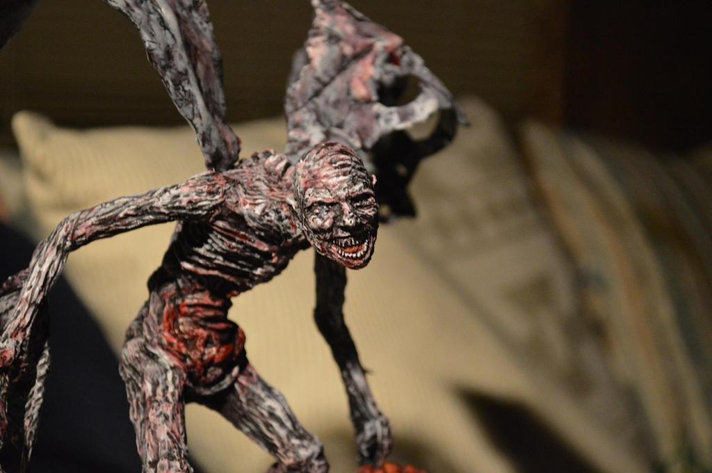 Bloodborne Orphan of Kos statue by futantshadow