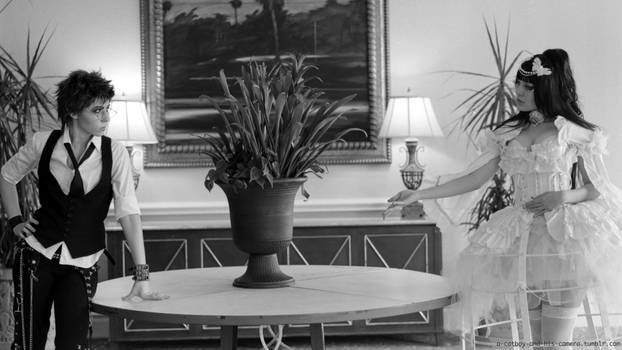 Black and white Kodona and Lolita