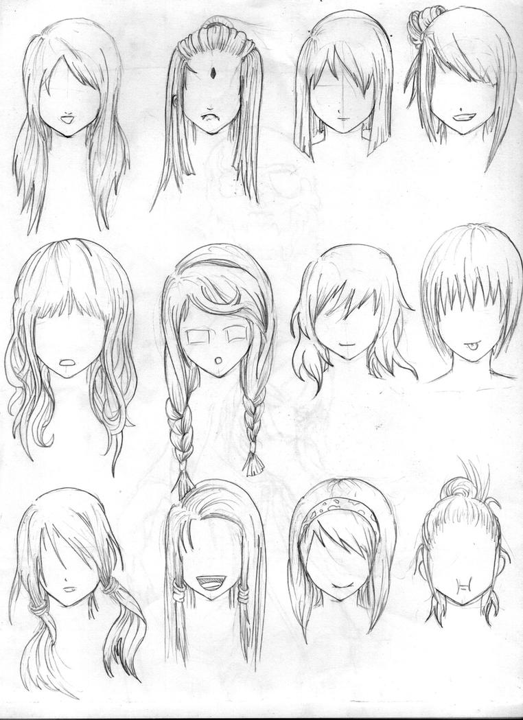 another hair reference by tenzen888 on deviantart