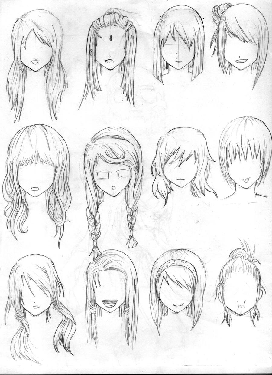 Hairstyles For Long Hair Drawing : another hair reference by tenzen888 on DeviantArt