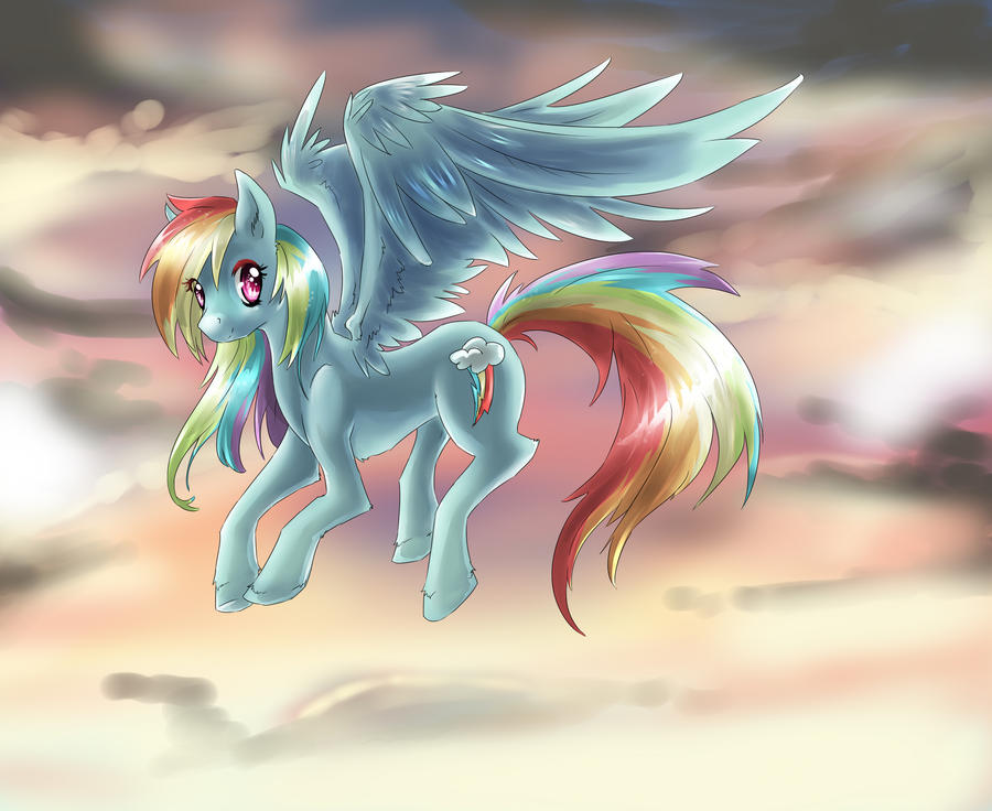 MLP: FiM RAINBOW DASH by dream--chan