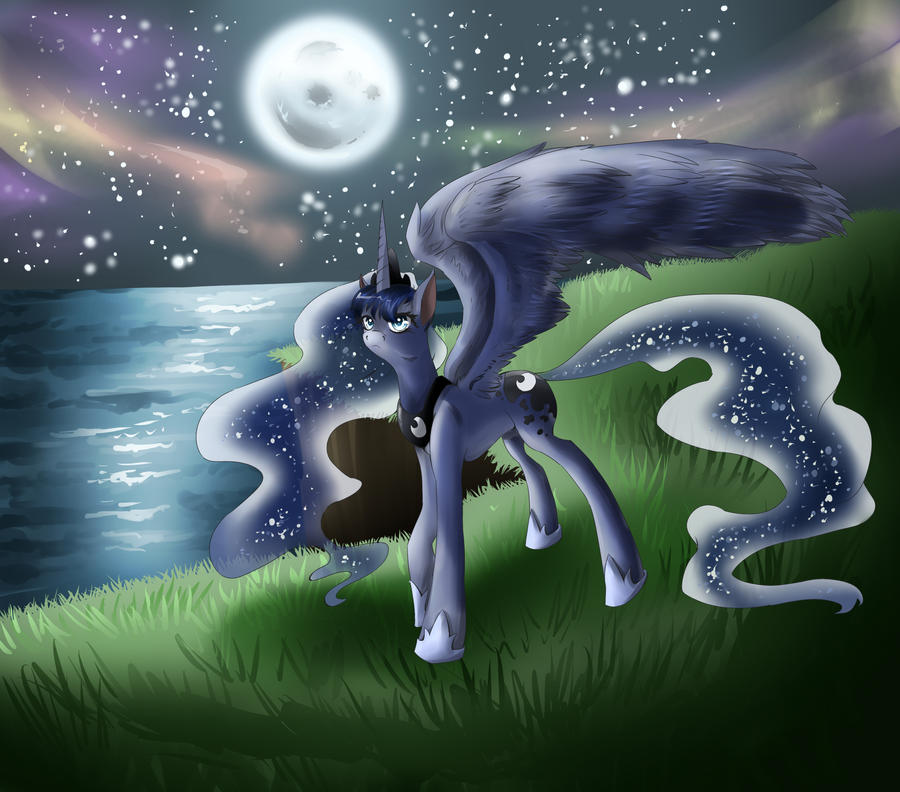 COMMISSION: Princess Luna- My Little Pony by dreampaw