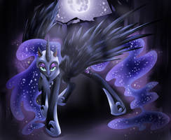 MLP: FiM NIGHTMARE MOON by dream--chan