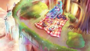 COMMISSION: Canterlot dusk by dream--chan