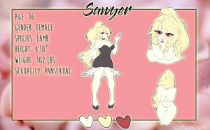 sawyer reference sheet by dream--chan