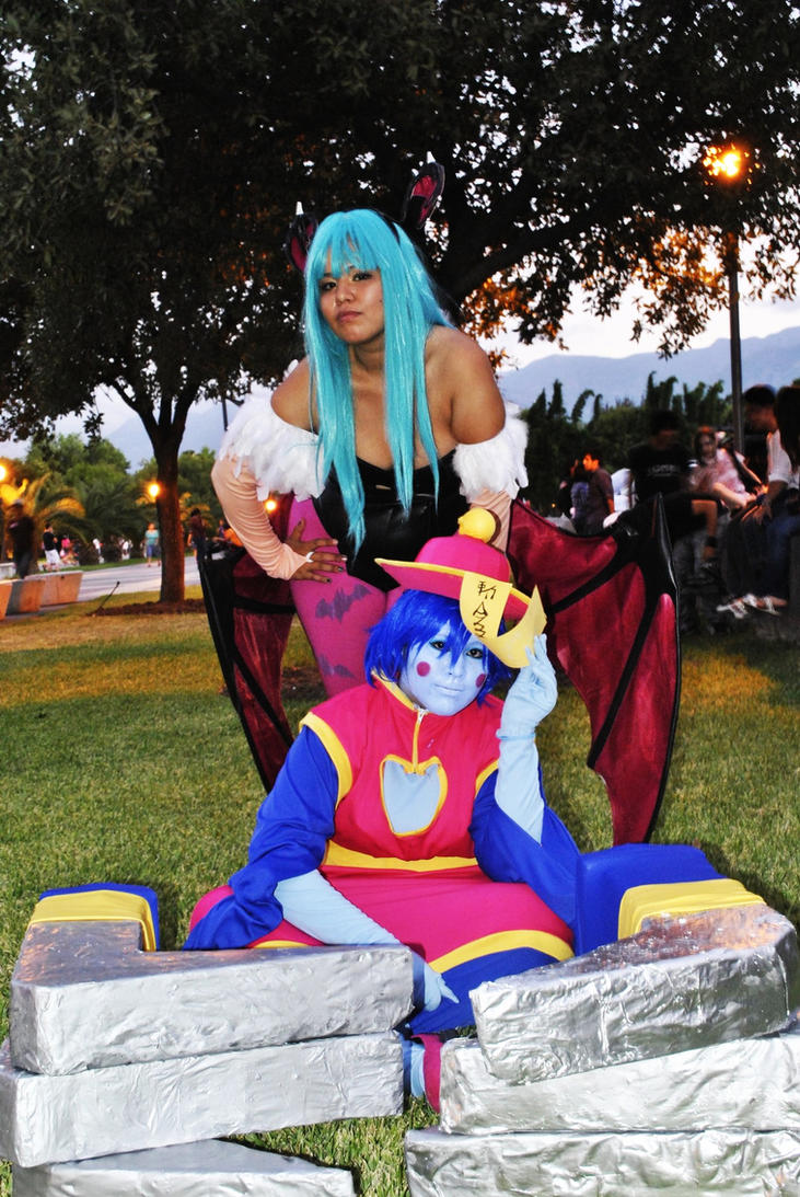 Hsien-ko and morrigan Cosplay by itajez009