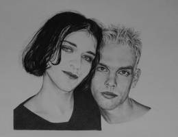 Brian Molko and Stefan Olsdal