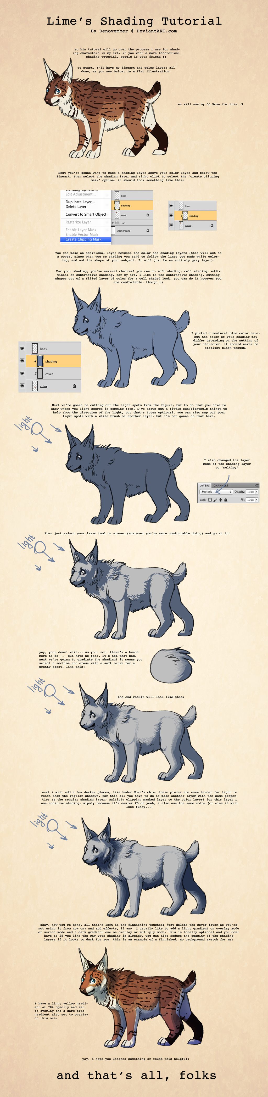 Shading Style Tutorial by DeNovember