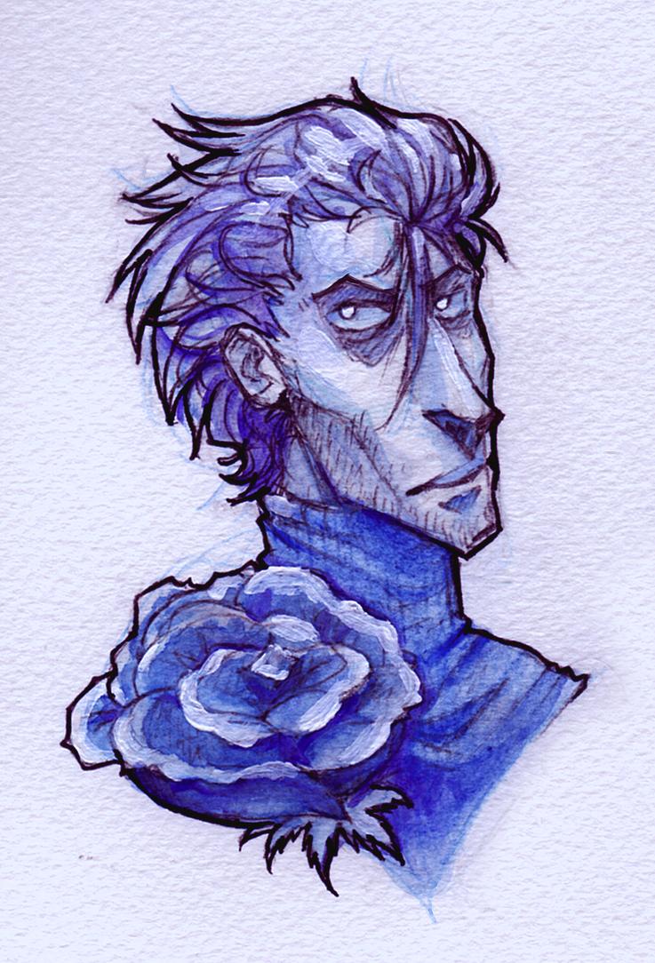 Blue Rose by DeNovember