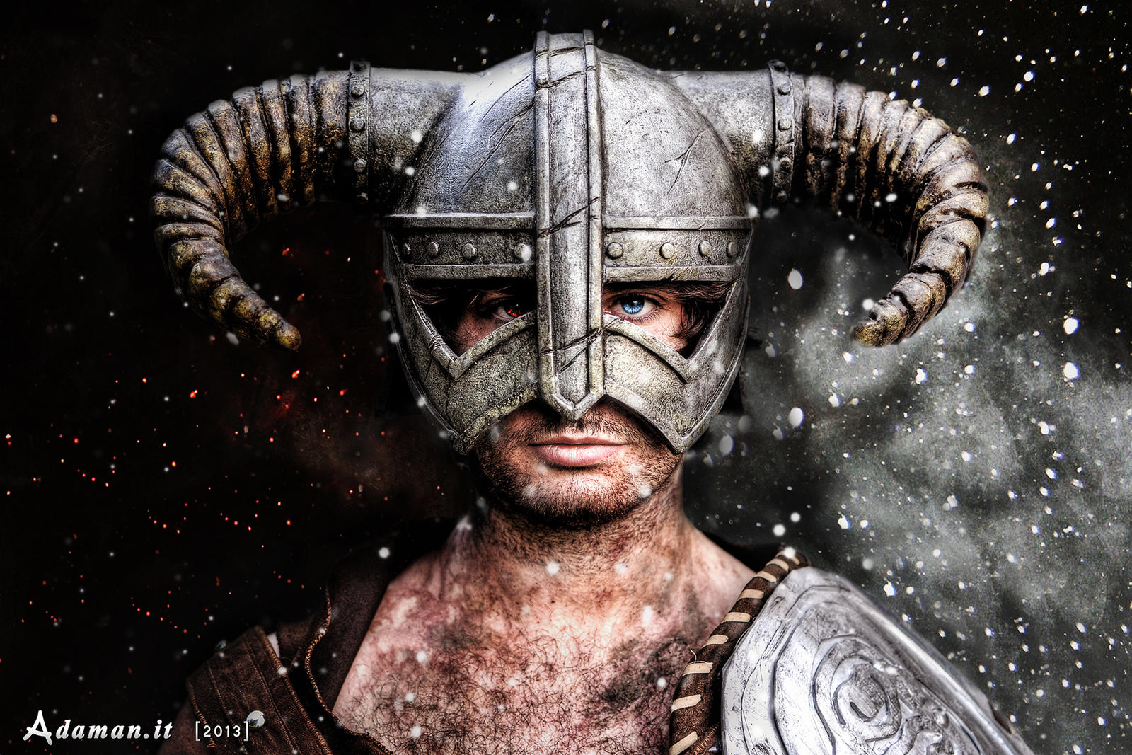 Skyrim - Dovahkiin Helmet by adaman77