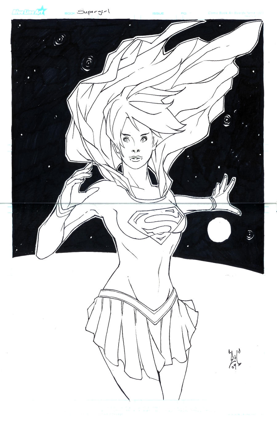 Supergirl - Space by eHillustrations