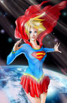 SuperGirl - Space COLORED