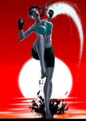 Wii Fit Trainer - Feel the Burn over 9000 by eHillustrations