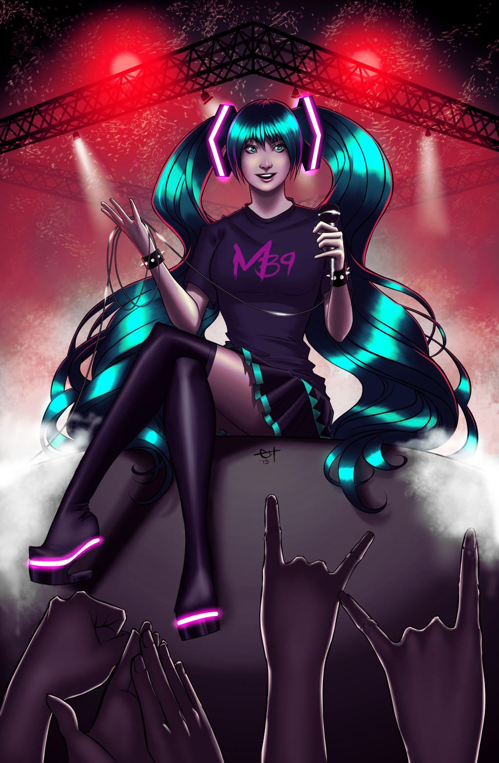 Miku Hatsune - Planetary Suicide by eHillustrations