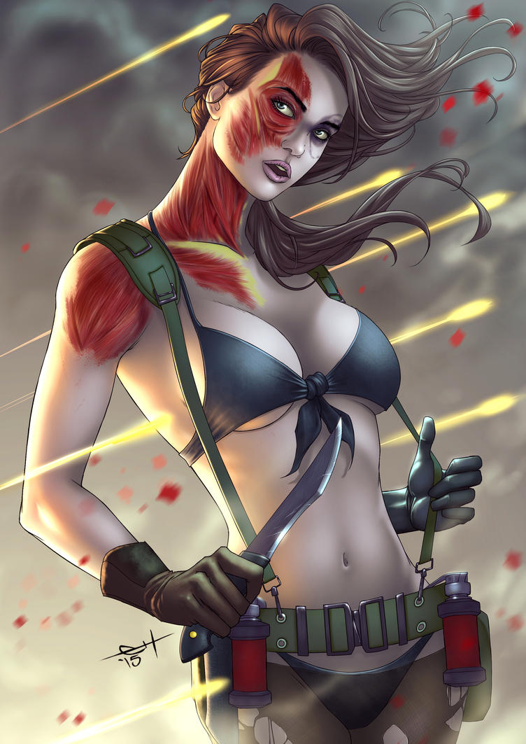 Metal Gear Solid V - Quiet (not quite) by eHillustrations