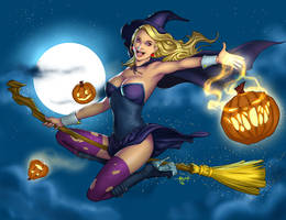 Happy Halloween 2016 - Witch Pin-up