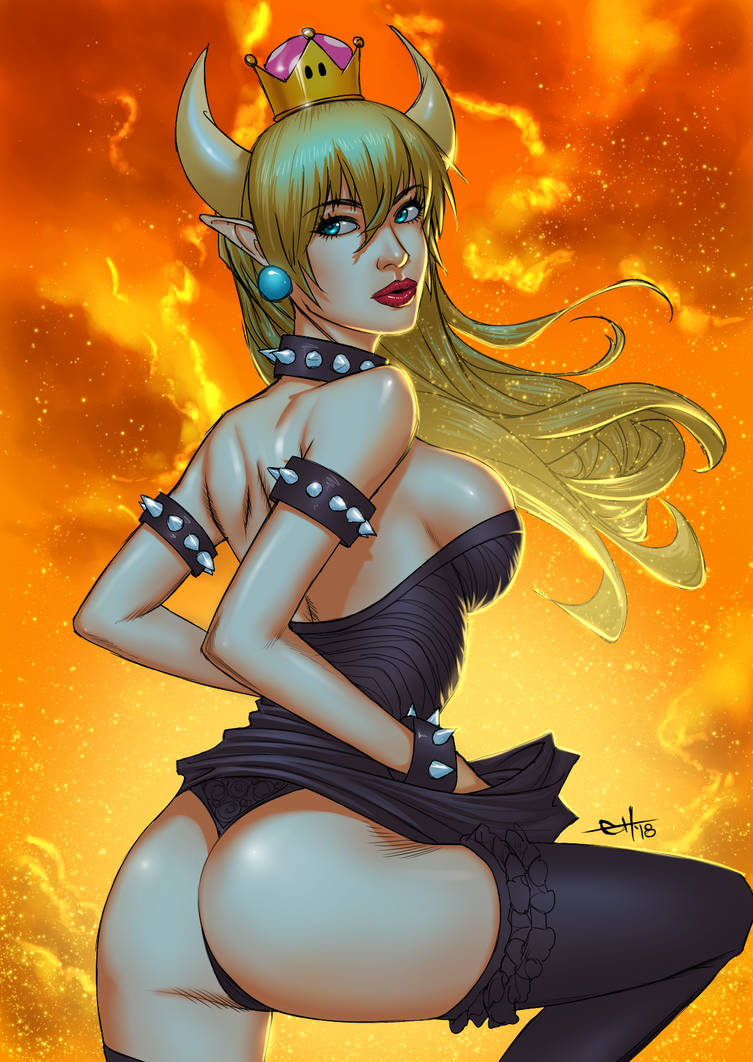 Bowsette - Sunset by eHillustrations