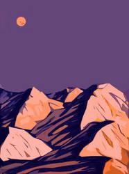 Montain peaks at sunrise