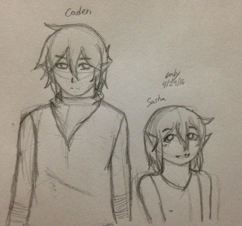 Old Zelda OCs sketch by CloudoboStrife
