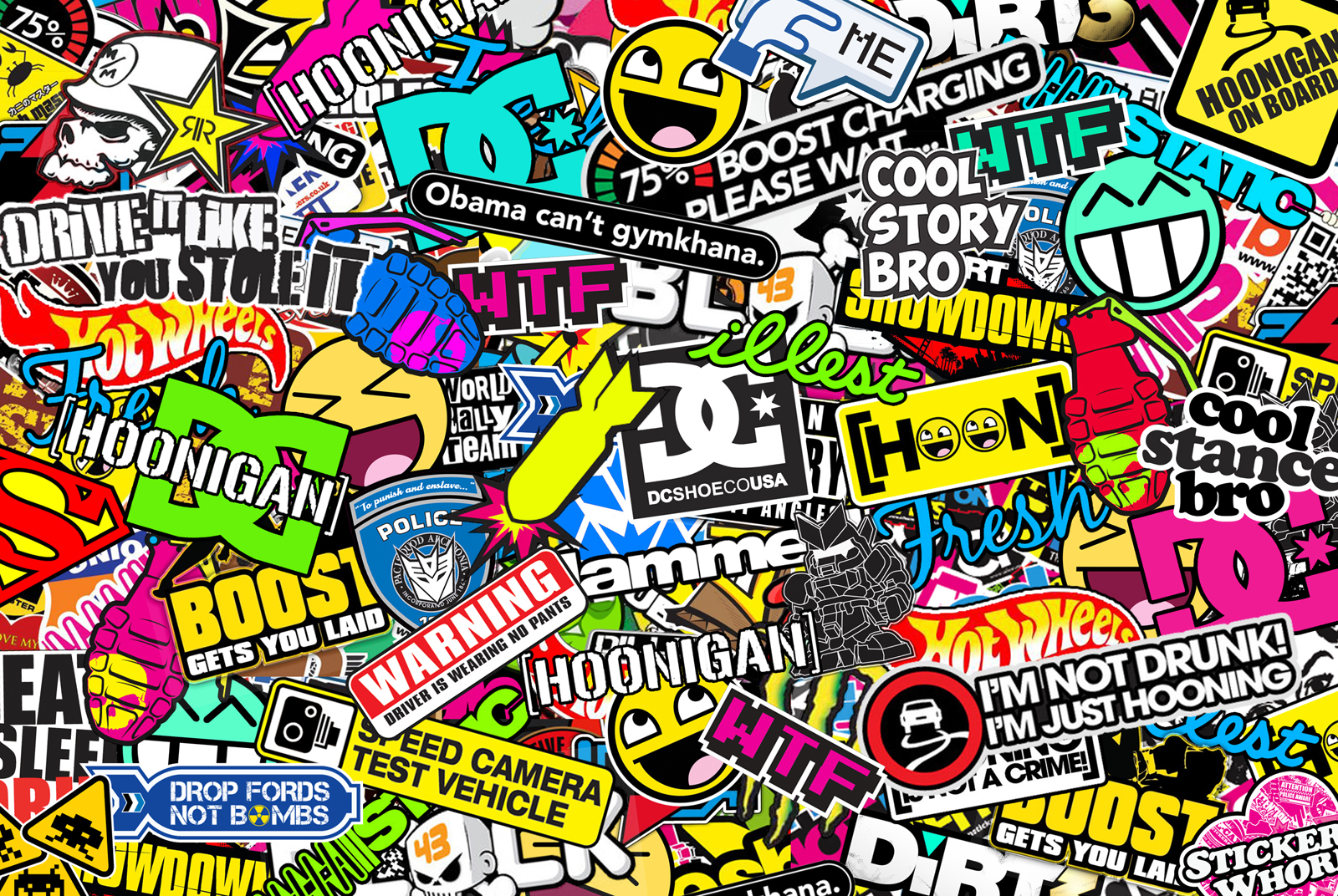 sticker bomb wallpaper cartoon - photo #9