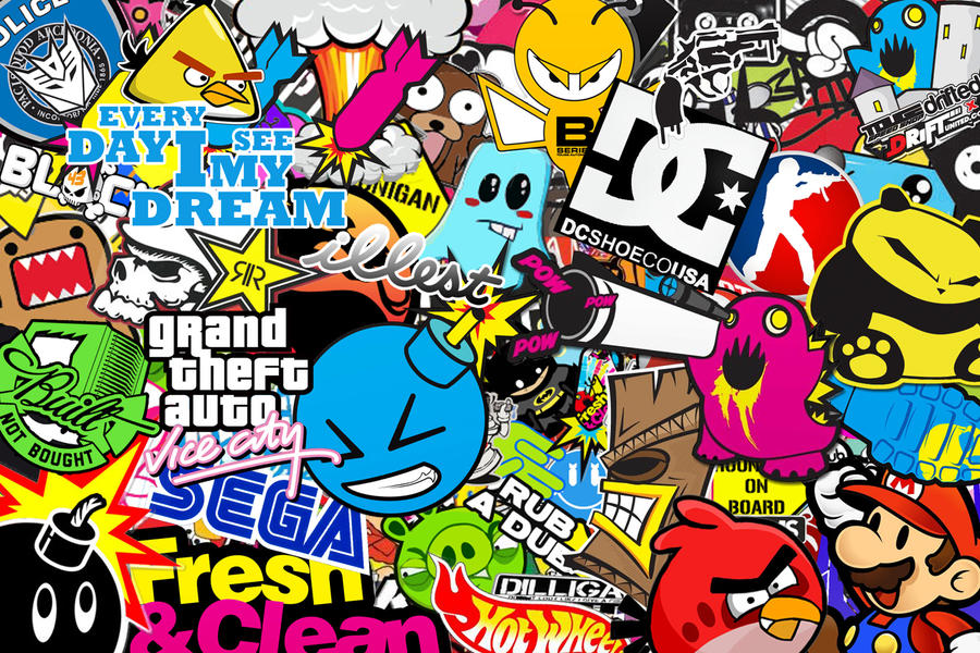 sticker bomb wallpaper cartoon - photo #6