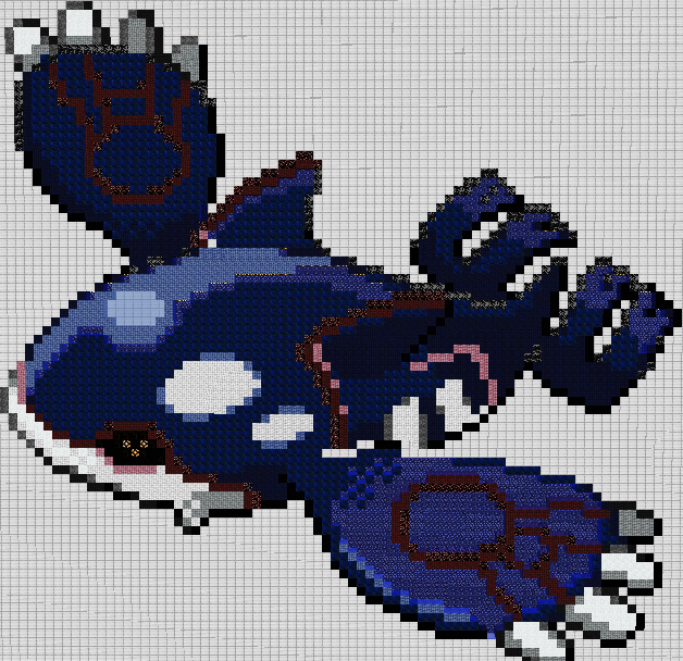 Kyogre Minecraft Pixel Art By D Train555 On Deviantart
