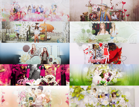 Pack Cover HAPPY GIRL'S GENERATION 8TH ANNIVERSARY