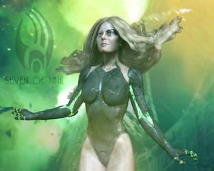 7of9 - Borg by LadyLusitania
