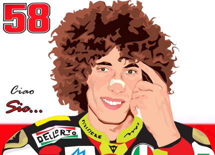 Marco Simoncelli by Enz90